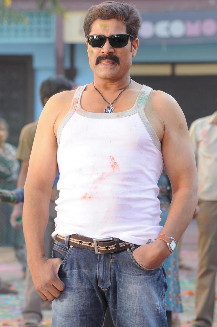 Srihari Open Shirt Hot Look Still In Sita Rama Films Movie