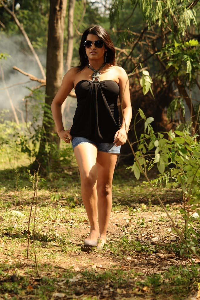 Tashu Kaushik In Strapless Black Dress Hot Still