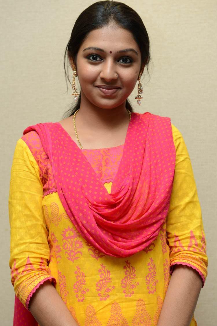 Lakshmi Menon Looked Ravishing In A Simple Chudidar At Gajaraju Press Meet
