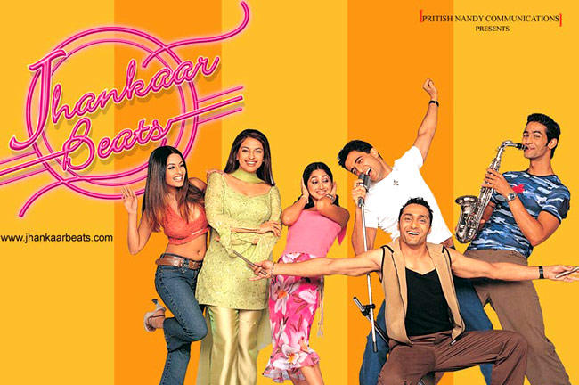 Sanjay,Rahul,Juhi,Shayan,Rinke And Riya Cool Still In Jhankaar Beats Movie Wallpaper