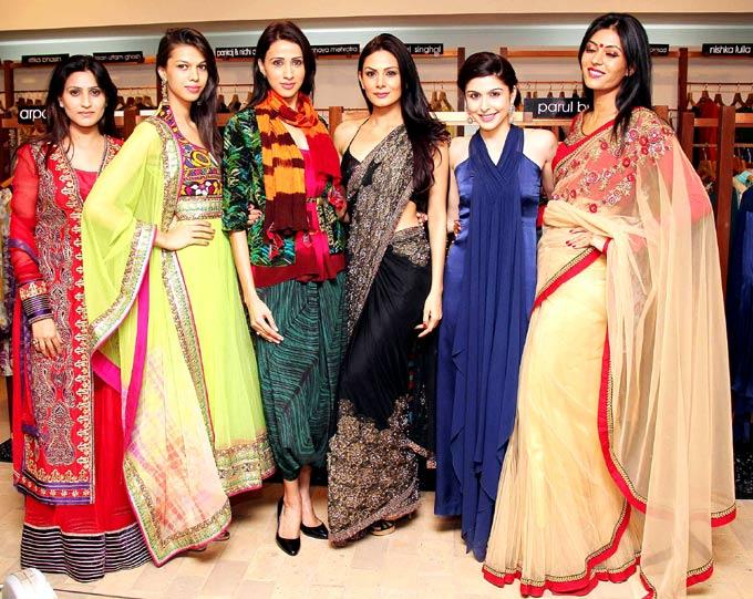 Alicia And Aanchal Pose With Guests At New Dress Collection Launch