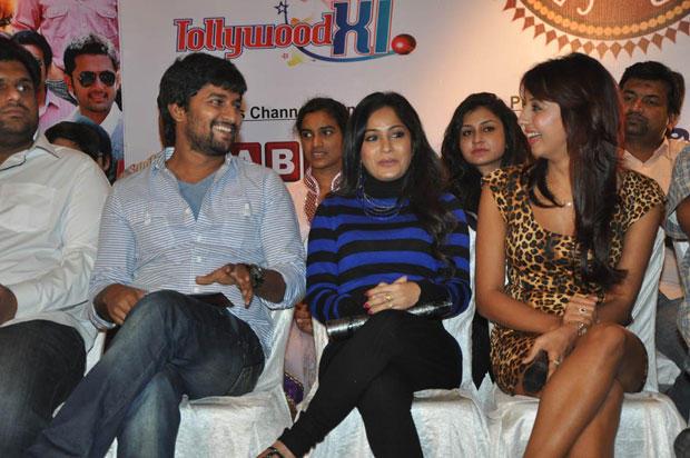 Madhavi,Nani And Sanjjanaa Attend The Crescent Cricket Cup 2012 Press Meet