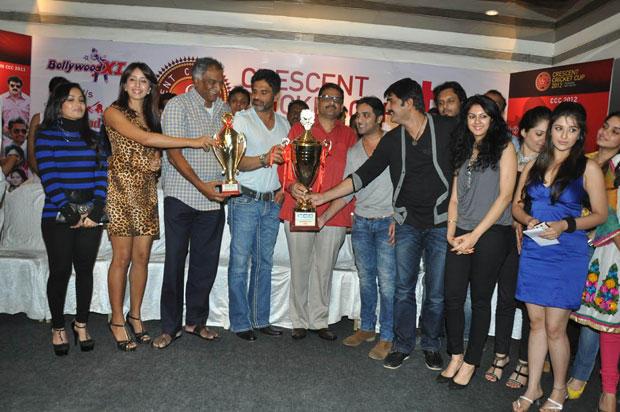 Madhavi,Sanjjanaa,Sunil,Tarun,Srikanth,Madhurima And Kamna At CCC 2012 Press Meet