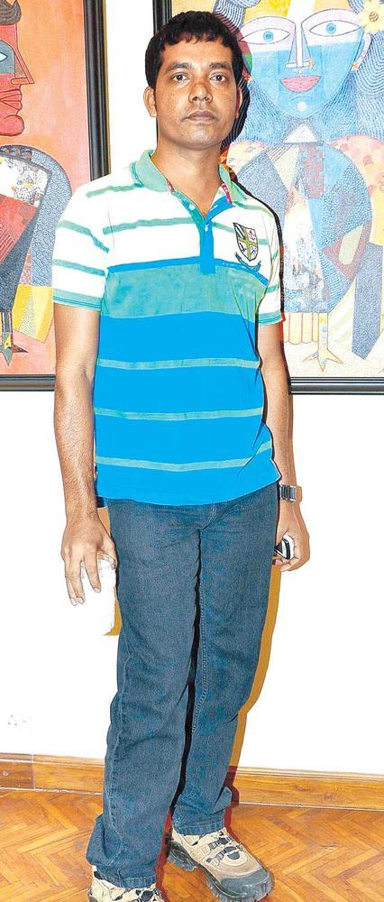 Jaganath Paul Posed For Camera At An Art Evening In SoBo