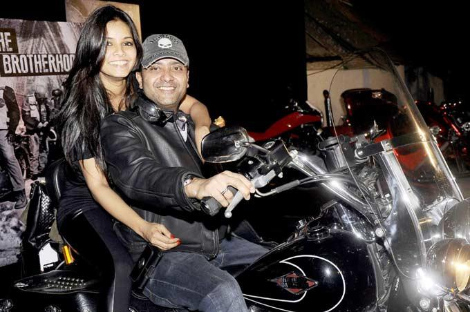 Ash Chandler With Wife Junelia Snapped During India Bike Week Bash
