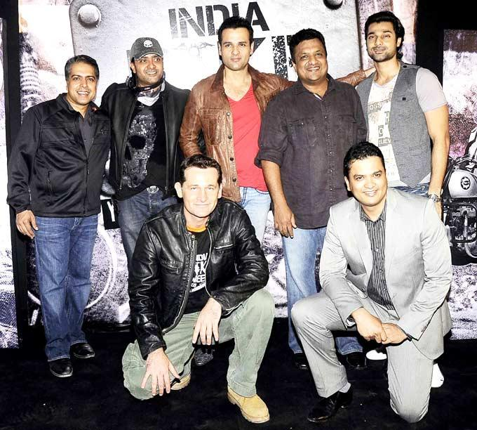 Hanif,Sanjay,Rohit And Ash With Other Friends Posed At India Bike Week Bash