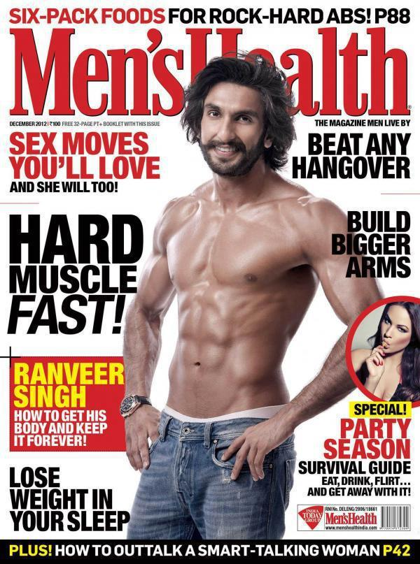 Ranveer Photo On The Cover Of  Men's Health For December 2012