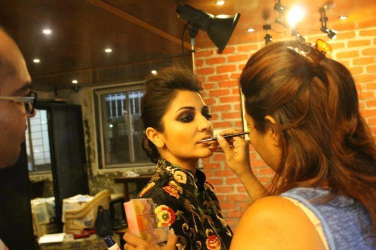 Anushka Make Up Photo Clicked During Photo Shoot For Verve Magazine