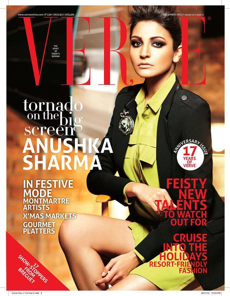Anushka In A New Hair Style On Cover Of Verve Magazine