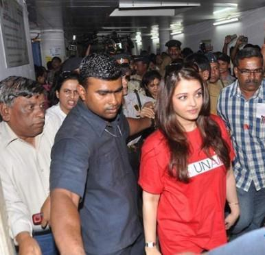 Aishwarya Rai Snapped At Sion Hospital During Promotion Of World Aids Day