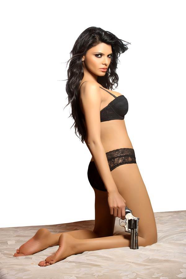 Sherlyn Chopra In Bikini Sexy Shoot For Fusion Life Magazine December 2012 Issue