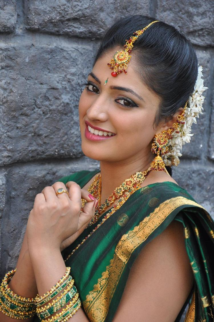 Haripriya Cute Smiling Still In Saree
