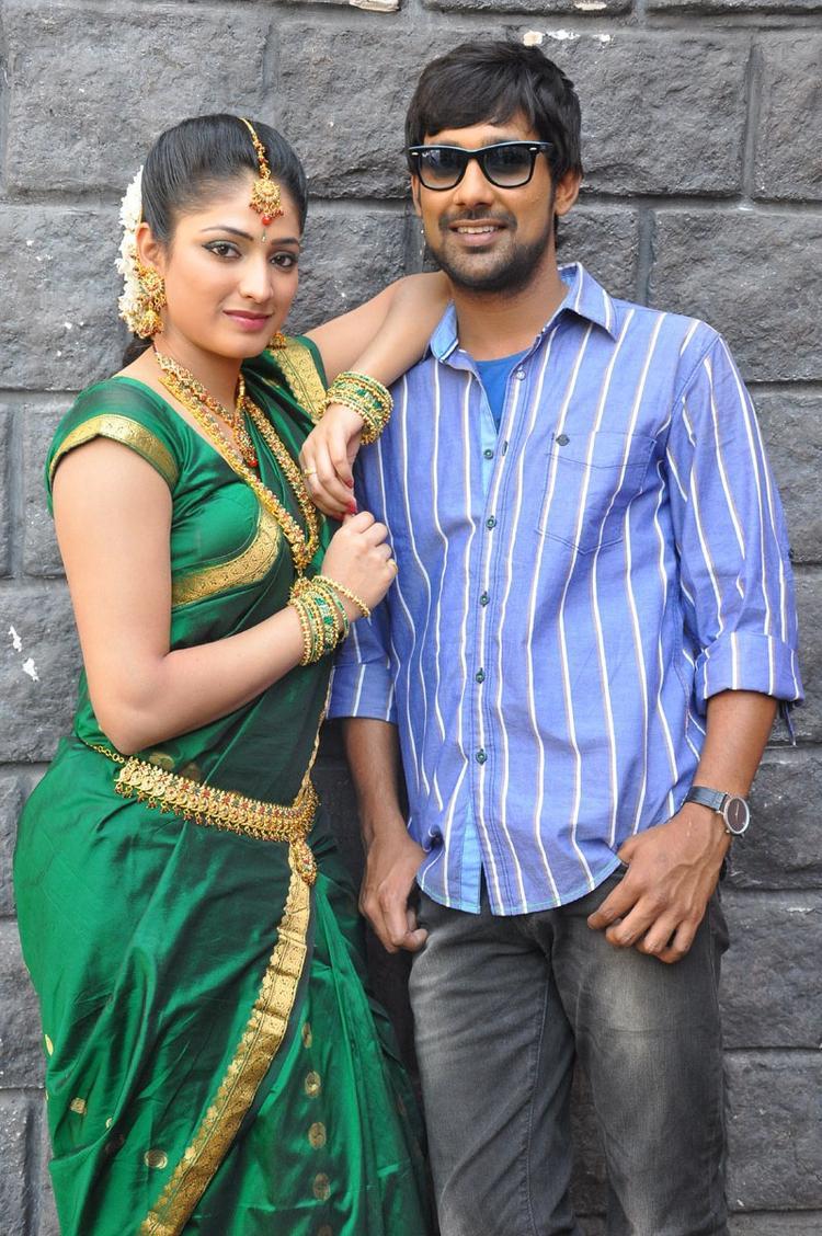 Haripriya And Varun Looked Fabulous At Abbai Class Ammai Mass Movie Location