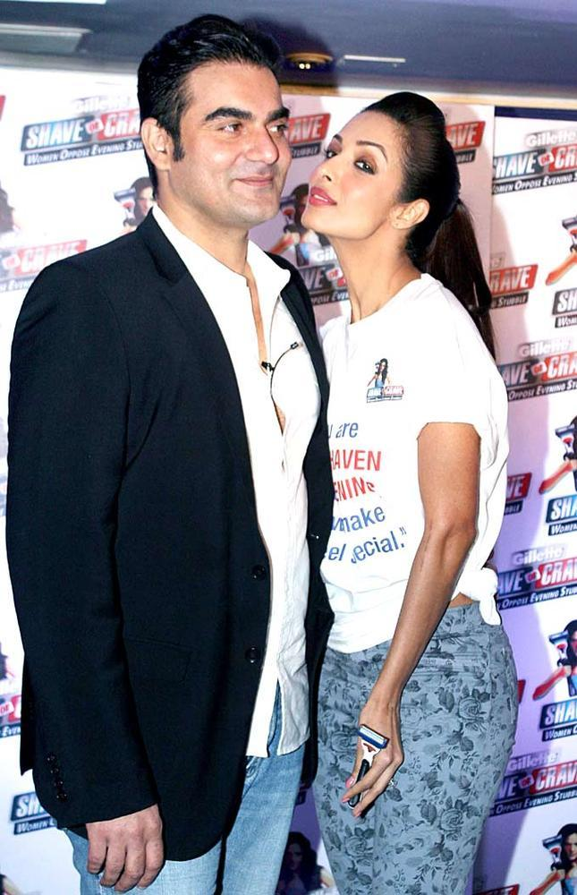 Arbaaz Khan And Malaika Arora Khan At A Gillette Event