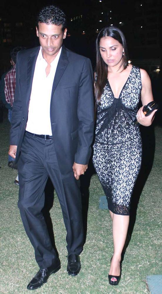 Mahesh Bhupathi With Wife Lara Dutta At The US Consulate