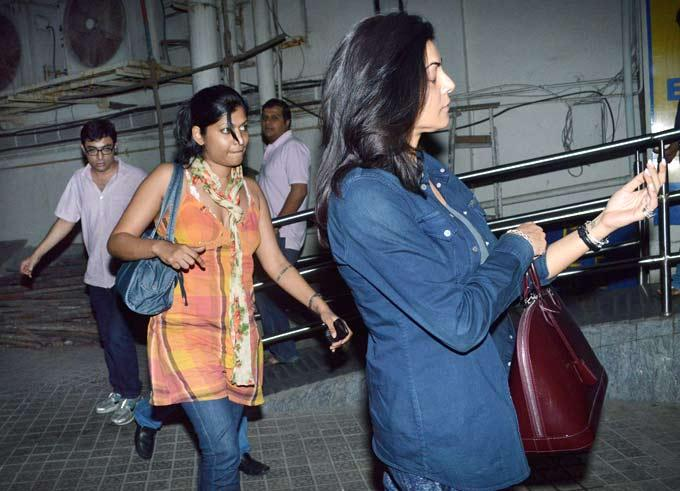 Sushmita Sen Spotted Catching A Flick At A Suburban Multiplex