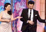 Madhuri And Anil Rocking On Stage During The Golden Petal Awards