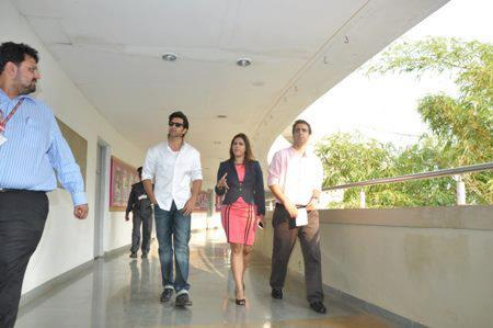 Hrithik With Meghna Spotted At Virtual Academy Launch Of Whistling Woods