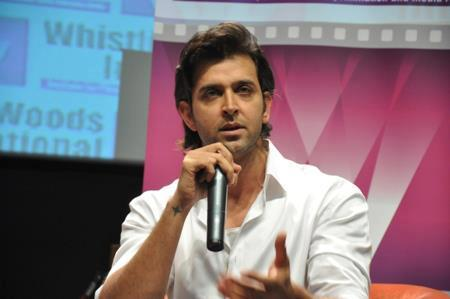 Hrithik Roshan Addressing The Besotted Audience At Virtual Academy Launch Of Whistling Woods