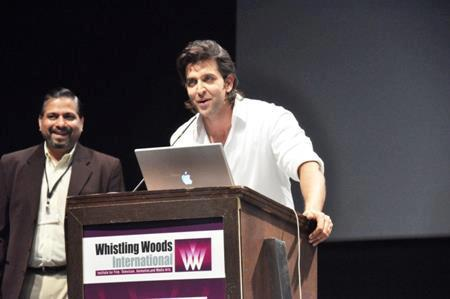 Hrithik Roshan Speak Out Photo At Virtual Academy Launch Of Whistling Woods
