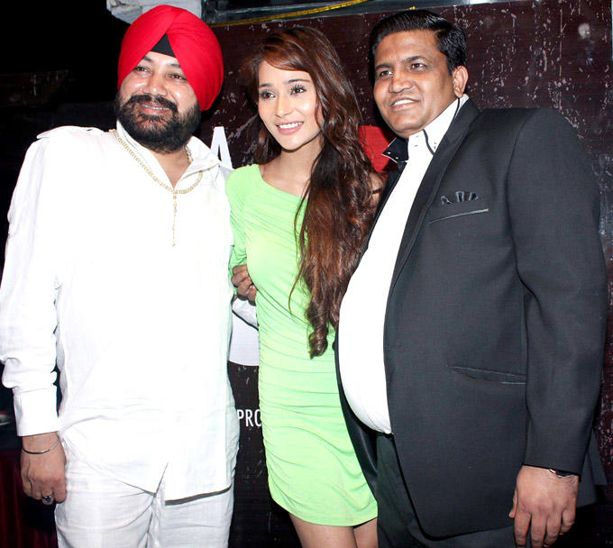 Daler With Sara And A Guest Strike A Pose At The Launch Of Her Production House