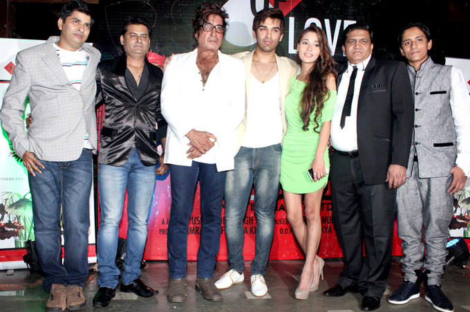 Shakti,Paras And Sara With The A Capsule Of Love Team Clicked At The Launch Of Sara Khan Production House