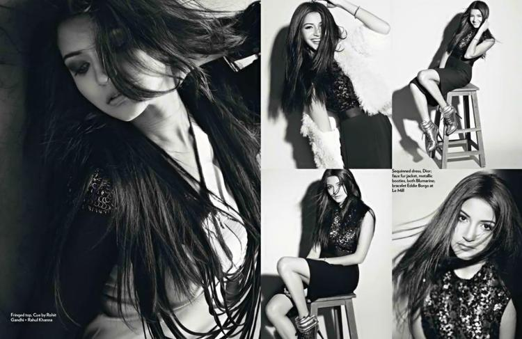 Anushka Different Pose Photo For Marie Claire India Dec 2012 Edition
