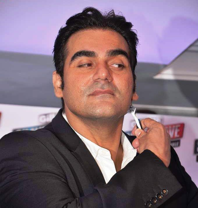 Arbaaz Khan Shave Photo Clicked During The Promotional Event Of Gillette