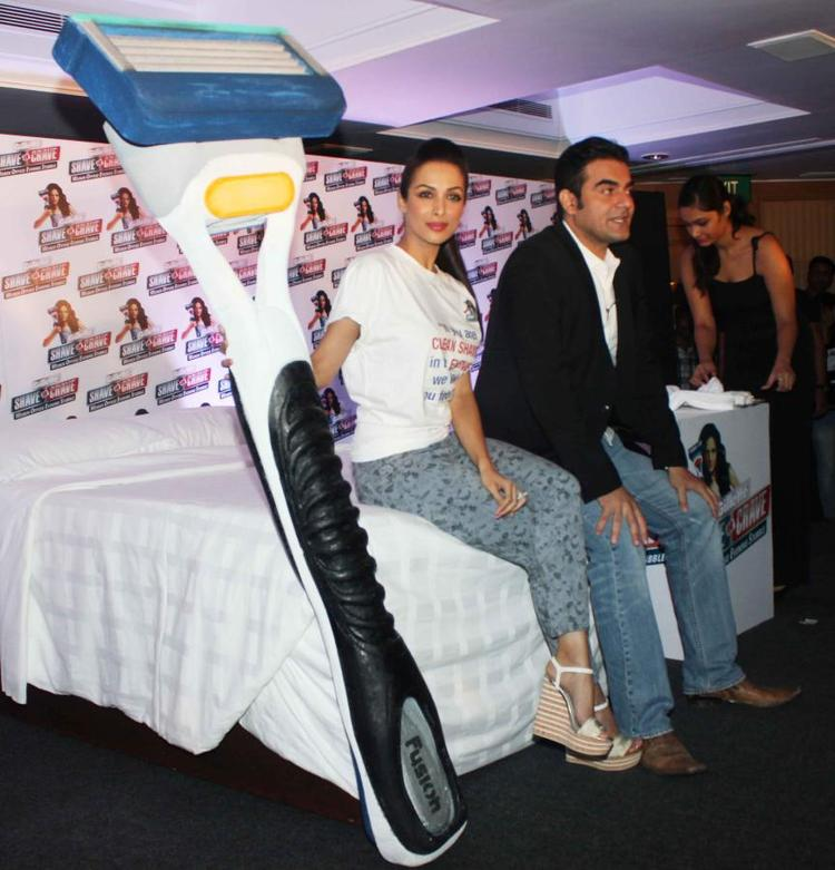 Malaika And Arbaaz Snapped At Gillette Promotional Event