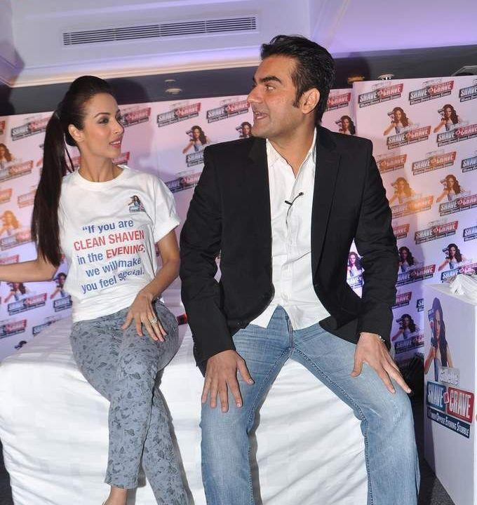 Malaika And Arbaaz Spotted At Gillette Shave Or Crave Movement Event