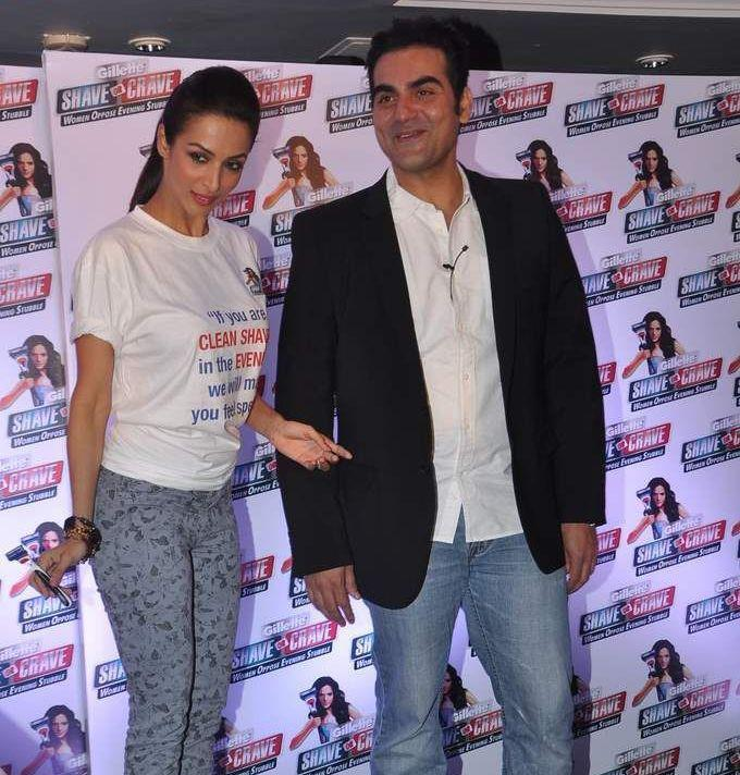 Malaika With Husband Arbaaz Photo Clicked During An Promotional Event Of Gillette