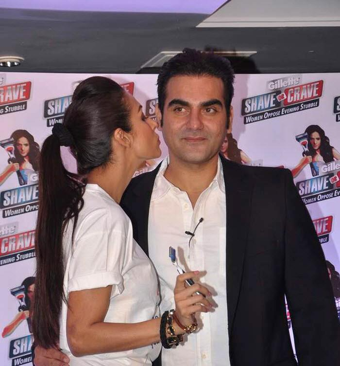 Malaika Kisses Arbaaz Photo Clicked At An Promotional Event Of Gillette