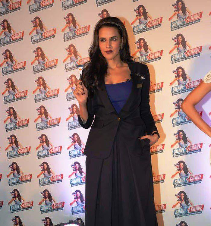 Neha Dhupia With Gillette Razor Posed For Camera At Promotional Event Of Gillette