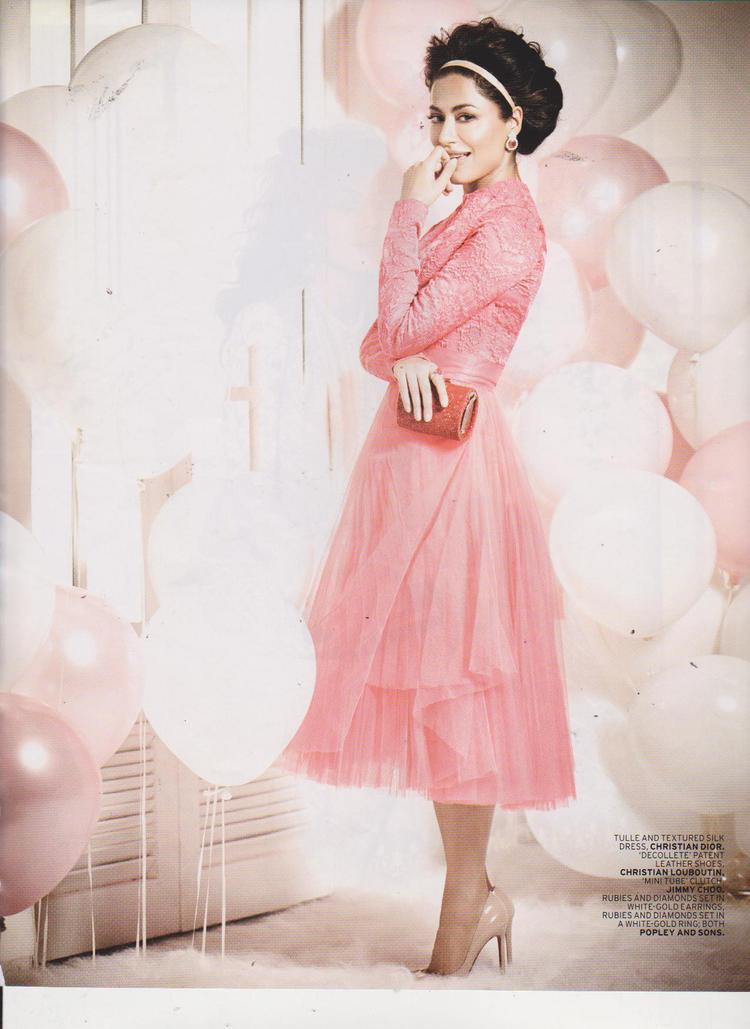 Chitrangada Trendy Looking Photo In A Pink Dress For  L Officiel India  Nov Issue