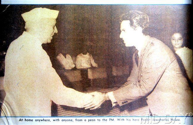 Dilip Kumar Shaking Hands With Pandit Nehru Photo