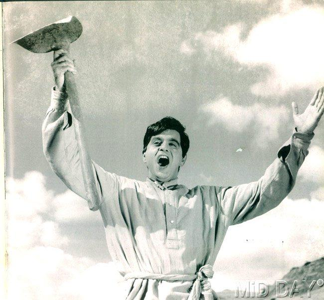 Dilip Kumar In A Still From Naya Daur Movie