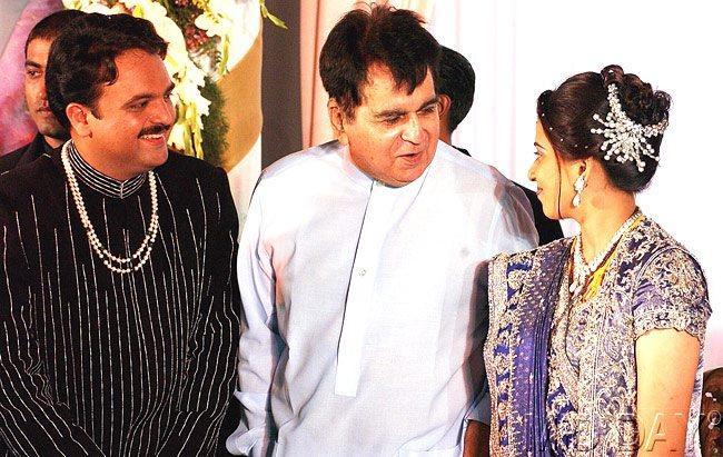 The Veteran Actor Dilip Kumar At The Wedding Reception Of Chhagan Bhujbal's Son Pankaj
