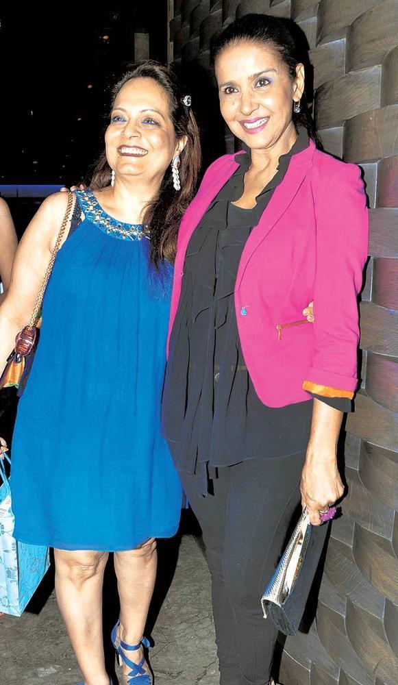 Asha Patel And Sharon Prabhakar Smiling Pose At Priyanka Thakur Wedding Anniversary