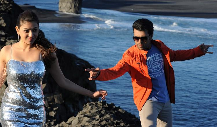 Ram Charan And Kajal Song Still From Nayak Movie