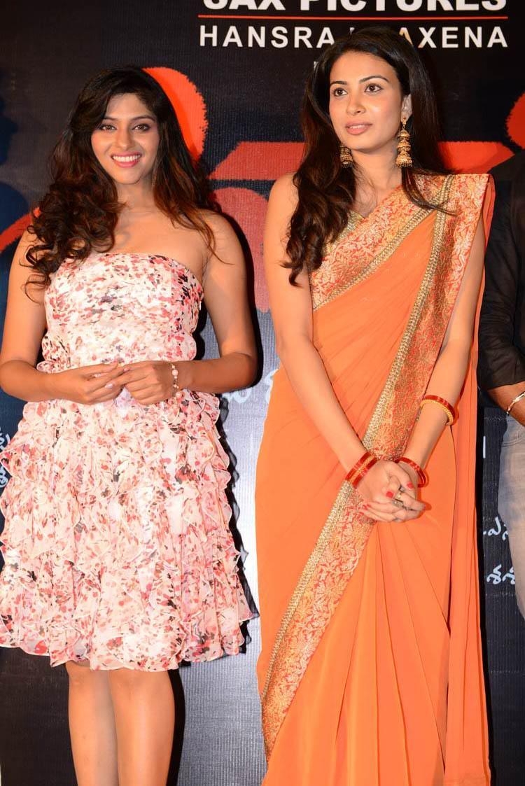 Laxmi With Kavya Smiling Pose For Camera At Shivani Audio Release Function