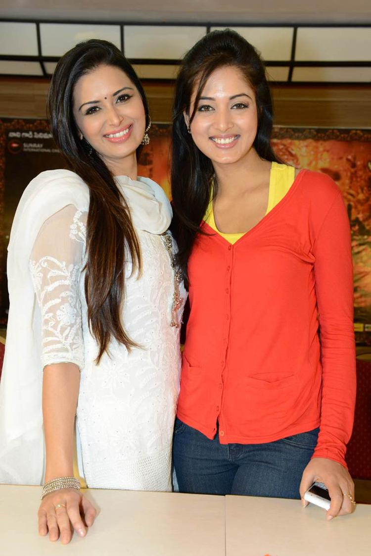Meenakshi And Vidisha Attend Devaraya Movie Success Meet