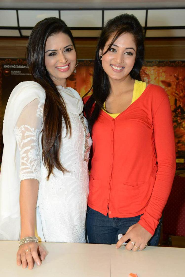 Meenakshi And Vidisha Looked Radiant And Beautiful At Devaraya Movie Success Meet