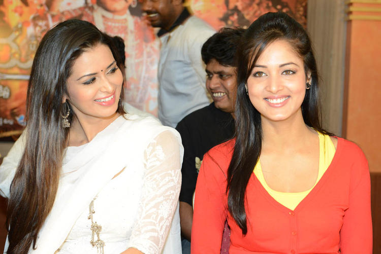 Meenakshi And Vidisha Nice Smiling Snapp At Devaraya Movie Success Meet