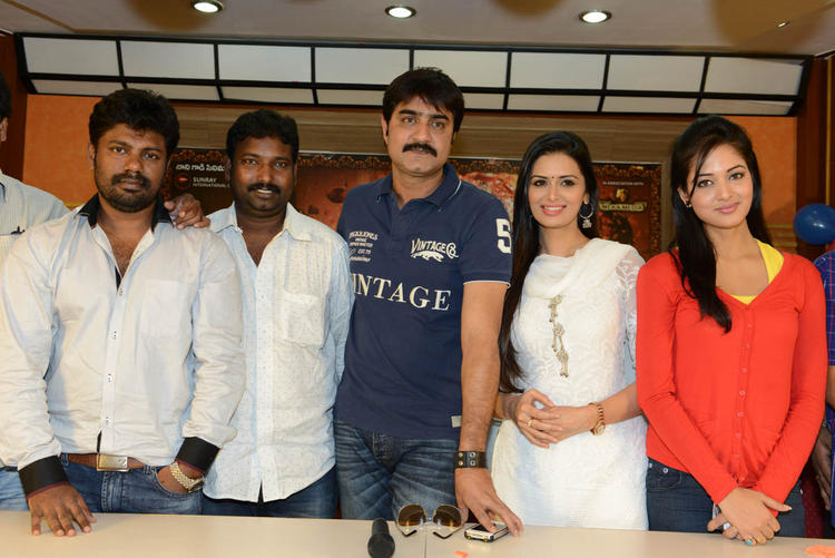Srikanth,Meenakshi And Vidisha Posed For Camera At Devaraya Movie Success Meet