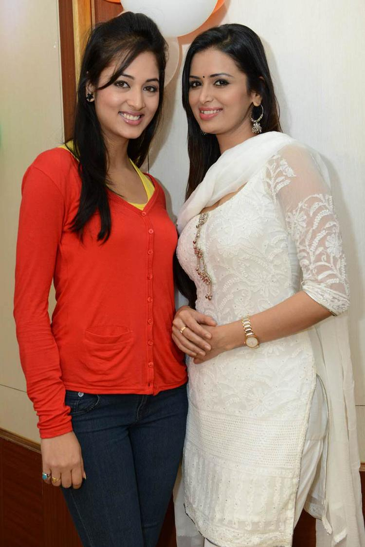 Vidisha And Meenakshi Looked Fabulous At Devaraya Movie Success Meet