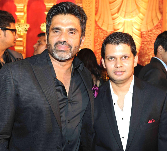 Suniel With A Friend Spotted At Swapnali Bhosale And Vishwajeet Wedding