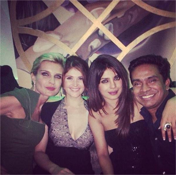 Priyanka Her Friends Melita,Gemma And Mushtaq Smiling Photo