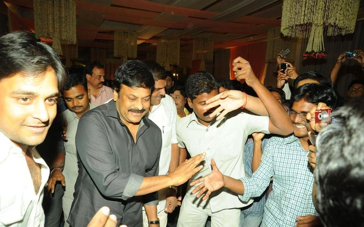 Chiranjeevi Spotted At Music Director Koti Daughter Wedding