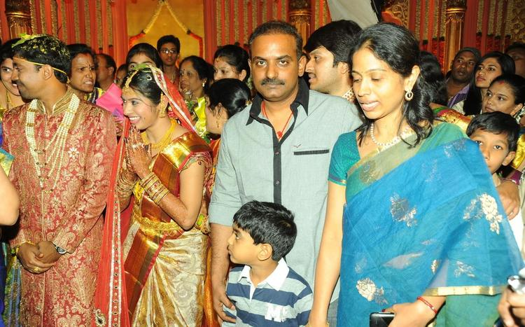 Kalyani With His Son Spotted At Music Director Koti Daughter Wedding