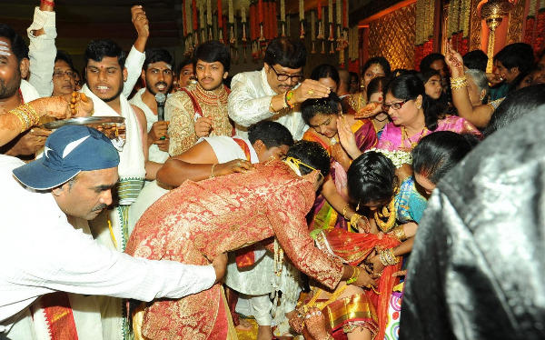 Photo Of Traditional Activities At Music Director Koti Daughter Wedding